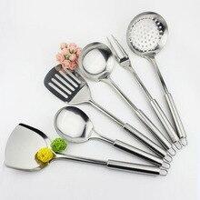 Набор кухонных принадлежностей из нержавеющей стали, 6 шт., набор кухонной утвари, лопатка, вилка, кухонная посуда, высококлассные кухонные аксессуары