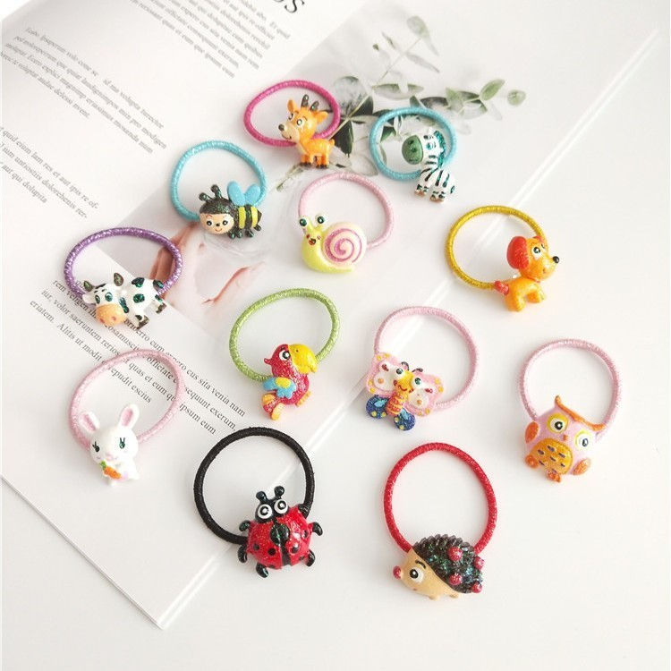 1 PCS New Cute Cartoon Butterfly Bunny Princess Headwear Kids Elastic Hair Bands Baby Headdress Children Ropes Girls Accessories