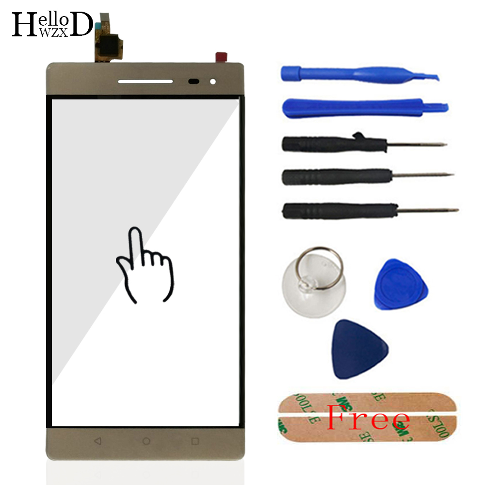 Touch Screen For Lenovo Phab 2 Phab2 Pro Touch Screen Front Glass Digitizer Panel Sensor Repair Phone Tools Adhesive