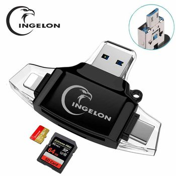 Type C & micro USB & USB 3 In 1 smart Card Reader High-speed OTG TF/SD for MacBook Android Phone iPhone Tablet adaptador usb
