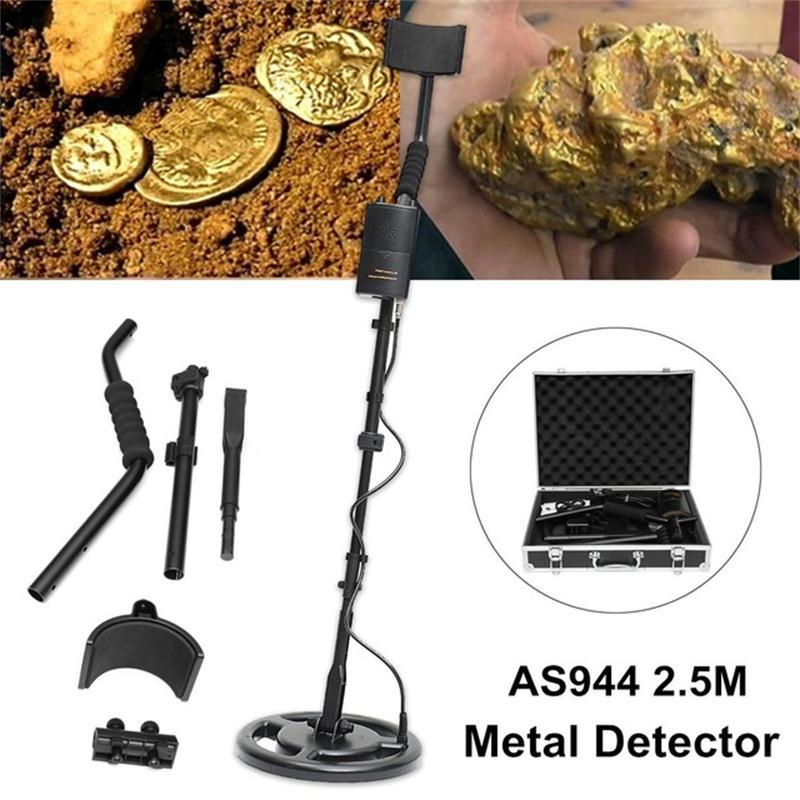 Prata e ouro subterrâneo detector de metais caçador de tesouros, profundidade de detecção 2.5 m profissional detector de metais as944