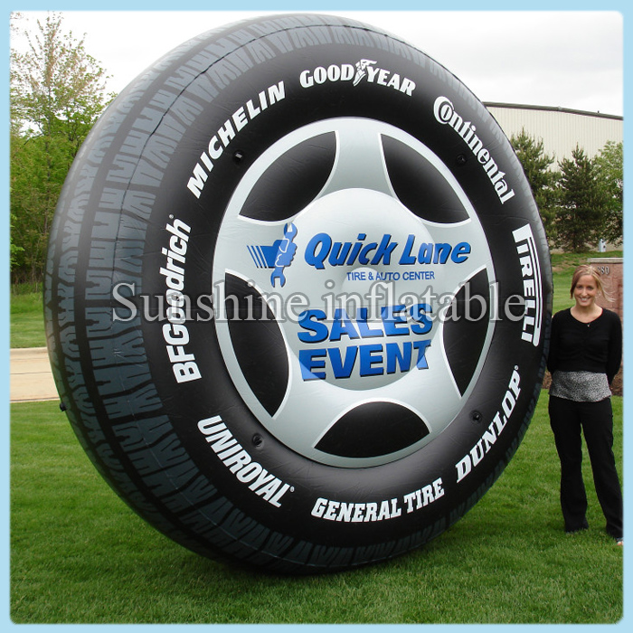 Customized 13 inflatable tire balloon for advertising, advertising inflatable tire balloon free shippingCustomized 13 inflatable tire balloon for advertising, advertising inflatable tire balloon free shipping