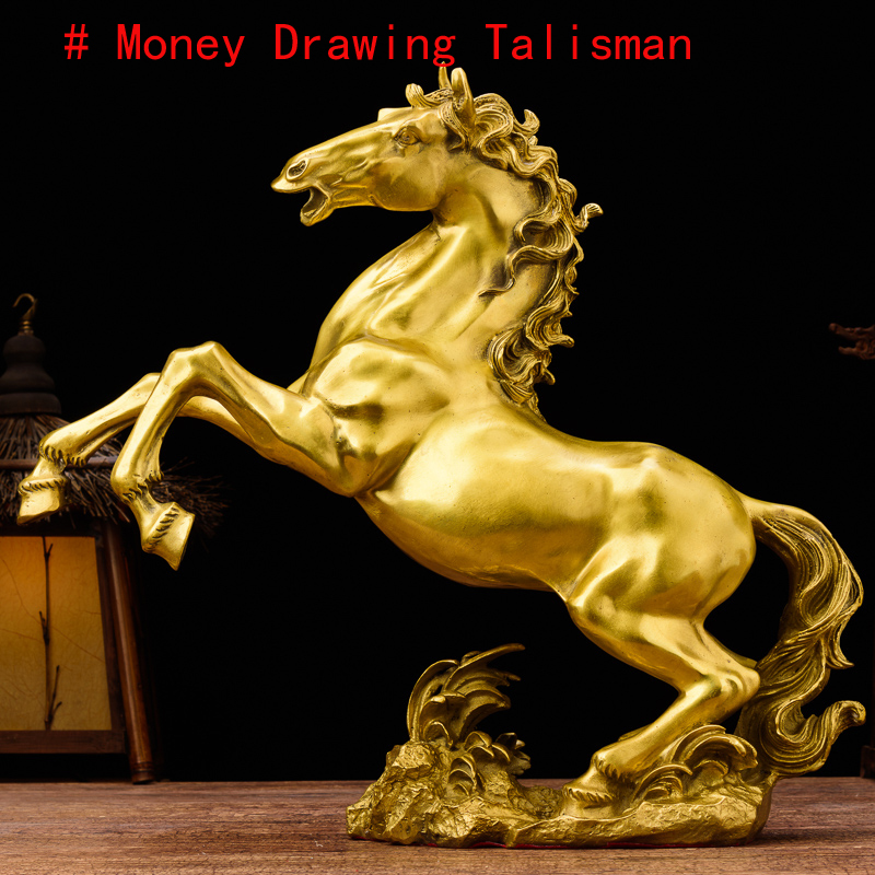 2019 GOOD Business art Efficacious Money Drawing Talisman Mascot Good luck Success Home Shop FENG SHUI GOLD copper horse statue2019 GOOD Business art Efficacious Money Drawing Talisman Mascot Good luck Success Home Shop FENG SHUI GOLD copper horse statue