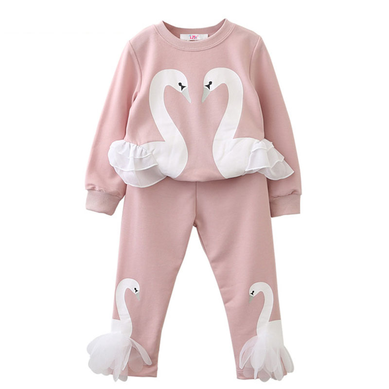 LZH Children Clothes 2017 Autumn Winter Girls Clothes T-shirt+Pants Kids Tracksuit Sport Suit For Toddler Girls Clothing Sets retail 2pcs brand new design girls clothing sets for kids autumn tracksuit for girls velvet jacket pants children sport suit