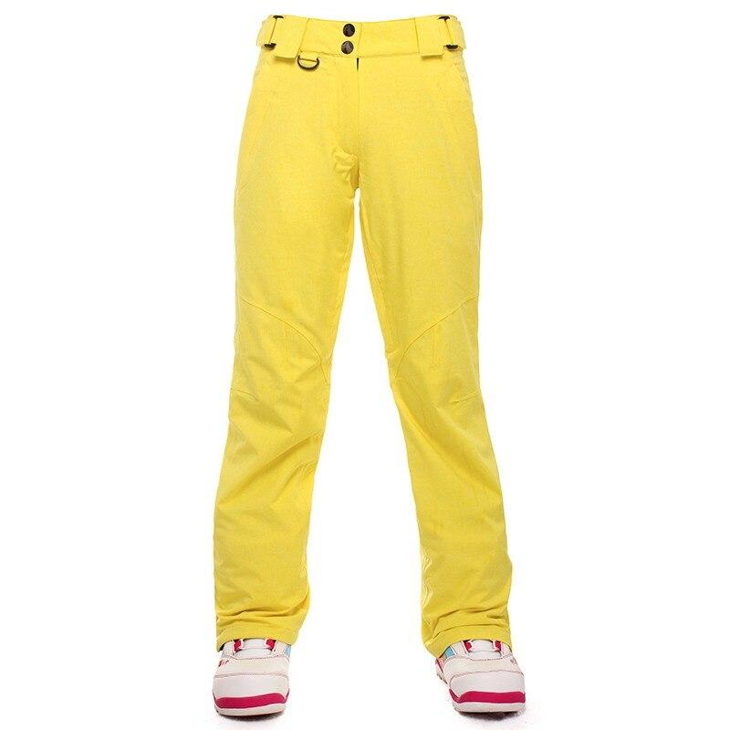 Saenshing pantalons de Ski imperméables femmes épaissir respirant thermique femelle Snowboard Sports Ski extérieur hiver pantalon de neige - 5
