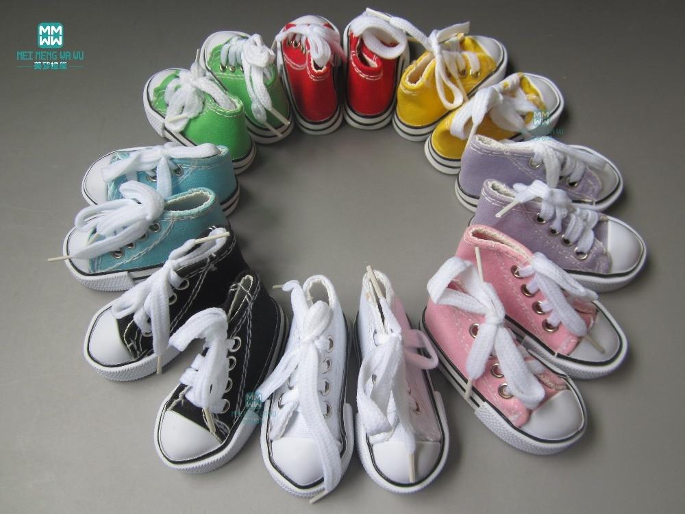 Mini Shoes ulticolor 7.5cm կոշիկ տիկնիկների համար 1/4 BJD տիկնիկ և 16 դյույմ Sharon տիկնիկների պարագաներ