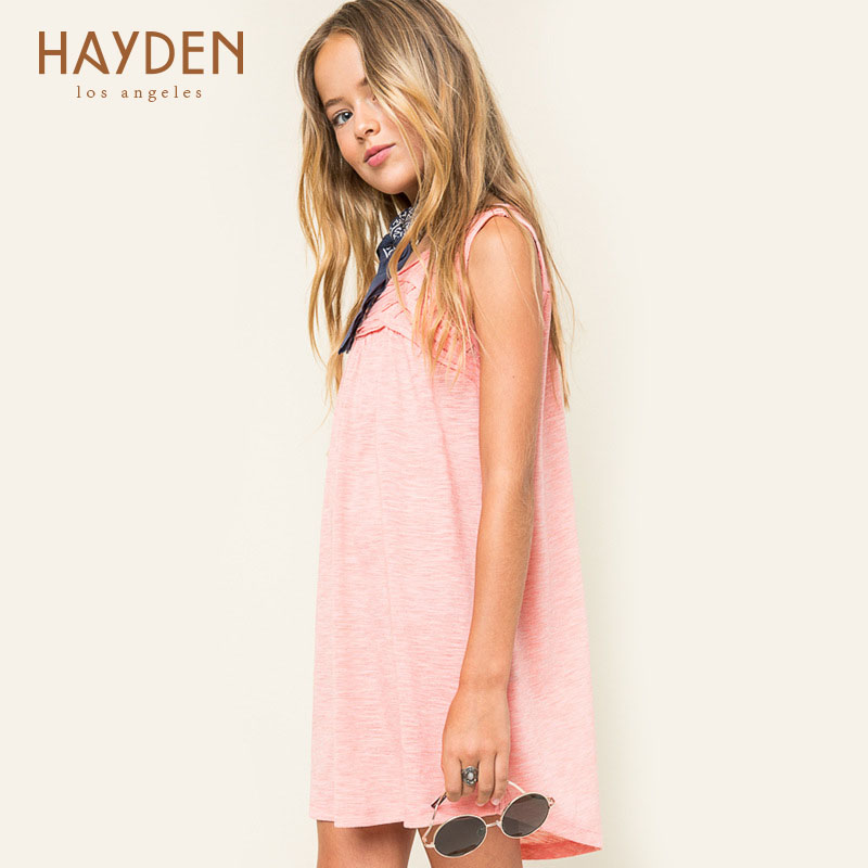 HAYDEN children party dress girls summer sundress costume 7 8 9 10 year teen girls clothing children clothes kids frocks designs