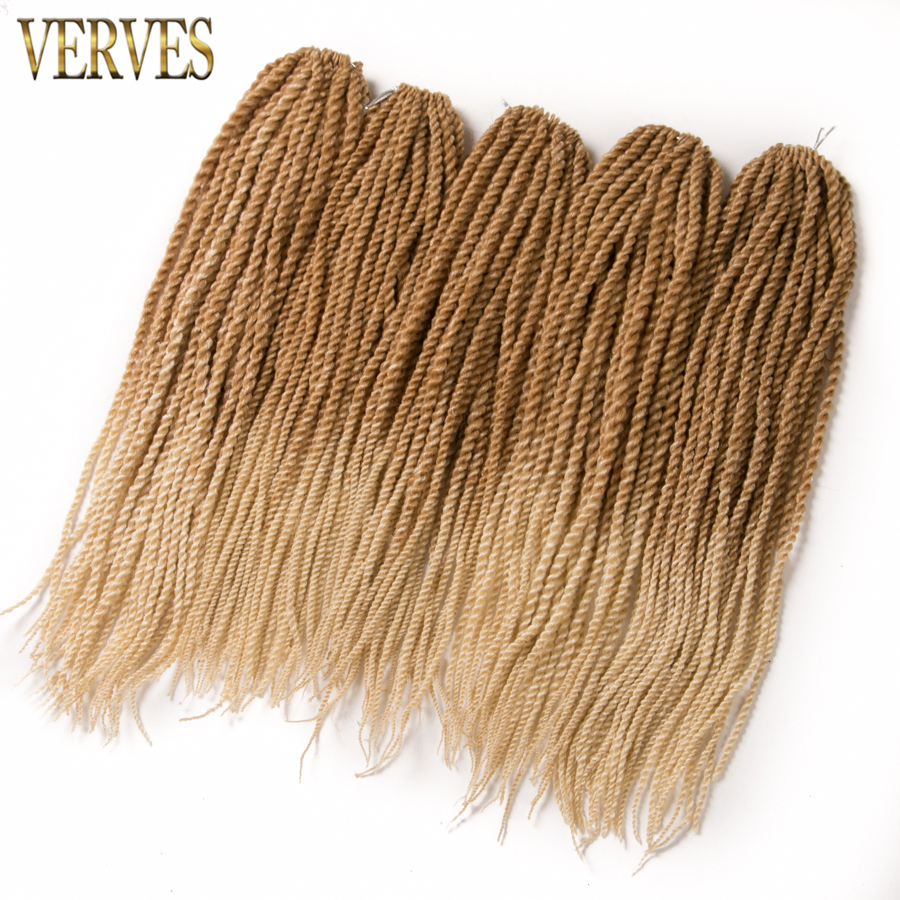 10 Piece 30 Strands/set Crotchet Braids Synthetic Ombre Braiding Hair 18'' Crochet Braids Hair Extensions Senegalese Twist Hair
