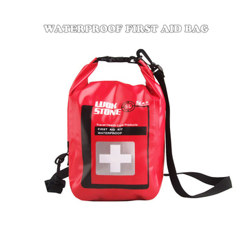 New Portable 5L Waterproof First Aid Bag With Shoulder Strap Outdoor Survival Emergency Kits For Outdoor Camp Hiking Fishing 1