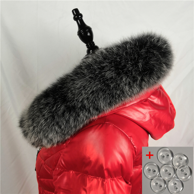 Fox Fur 75cm Collar Scarf Natural Fox Fur Collar for Hood 100% Real Fur Collar Scarf Custom Made Winter Fur Scarf