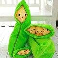Almofada Dos Desenhos Animados Cor verde Vegetal Ervilhas De Pelúcia Lindo Travesseiro Criativo Presente de Aniversário das Crianças Brinquedos Presentes de Natal Do Bebê