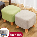 Sapatos da moda sapatos fezes fezes sofá toalha de mesa bancada de madeira simples banquinho taburete poef pufe cadeira com apoio para os pés