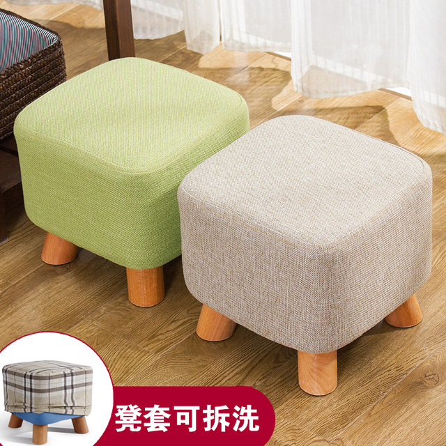 Wood Shoes Fashion Shoes Stool Stools Table Cloth Sofa Bench Simple Stool  Pouf Taburete Poef Chair