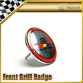Front Grill Badge 83mm Diameter Metal Base Plastic Universal JDM For Honda Mugen