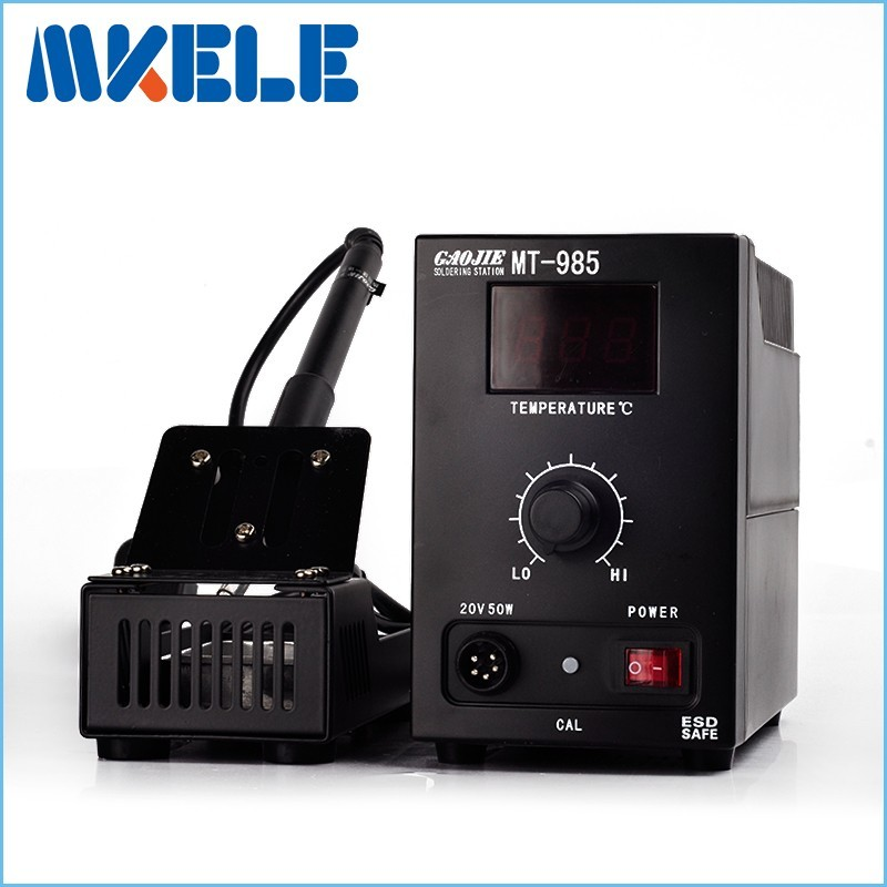 Industrial grade 55W 220V MT-985 Lead-free digital display Soldering Station Electric Iron Welding Soldering Rework Repair Tool mig mag burner gas burner gas linternas wp 17 sr 17 tig welding torch complete 17feet 5meter soldering iron air cooled 150amp