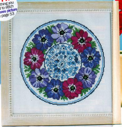 Fishxx Cross-Stitch Cross137-13[Anemone]cotton thread and cloth , water-soluble,100% accurate,11CT,embroidery