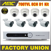 8 Channel DVR 700TVL 8CH CCTV System Waterproof Cameras And Dome Cameras Security Camera System Recorder
