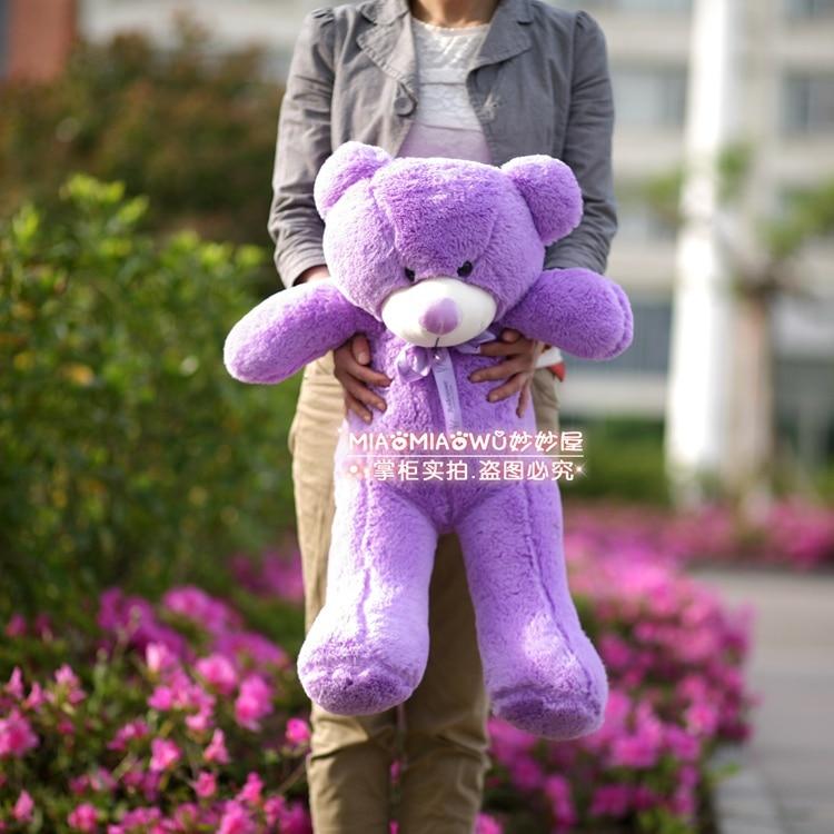 ФОТО stuffed animal 100 cm  lavender teddy bear plush toy soft doll w1920