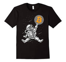2018 Hot Sale New T Shirt Men'S Short  Bitcoin To The Moon O-Neck Tall T Shirt b n rundell to the tall timber