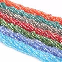 Бусины Nicebeads 145-195 шт./лот, разноцветные стеклянные граненые круглые бусины 2 мм 3 мм 4 мм, незакрепленные хрустальные бусины для рукоделия, изг...