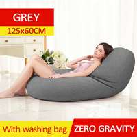 Waterproof Lazy BeanBag Sofas Cover Chairs without Filler Linen Cloth Lounger Seat Bean Bag Pouf Puff Couch Tatami Living Room