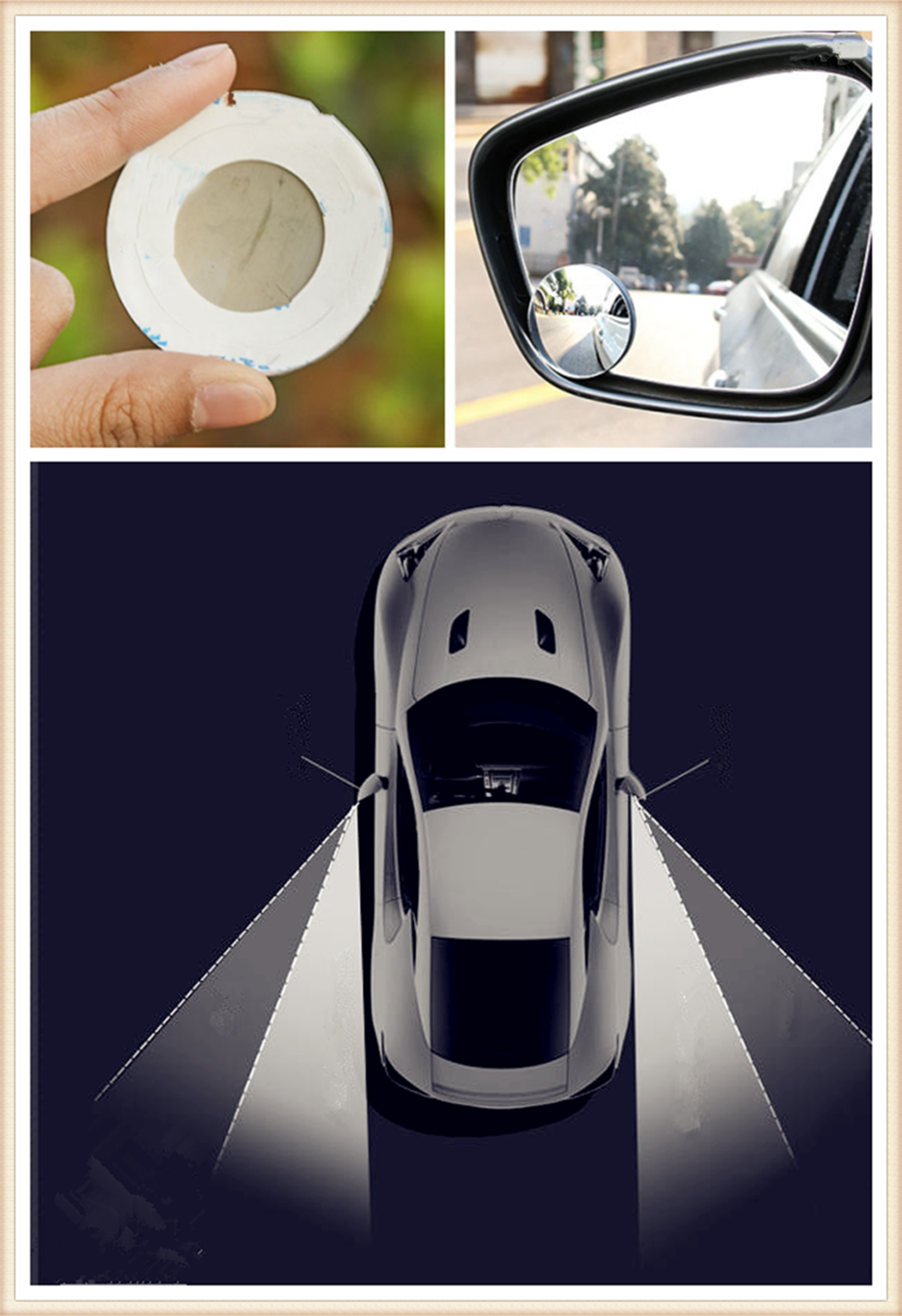 car rear view wide angle lens assisted blind spot mirror. Black Bedroom Furniture Sets. Home Design Ideas