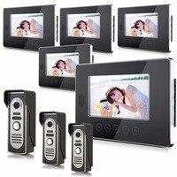 7 inç 3v5 Dokunmatik Ekran Iki Yönlü Interkom Görüntülü Kapı Telefonu
