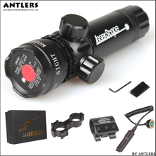 Tactical Laser Pointer Mount  Red Dot Laser Sight Rifle Hunting Scope 20mm Airsoftsport Rail Barrel Pressure Switch Mount tactical 5mw red laser sight rifle scope riflescope designator 20mm mount tail switch for hunting
