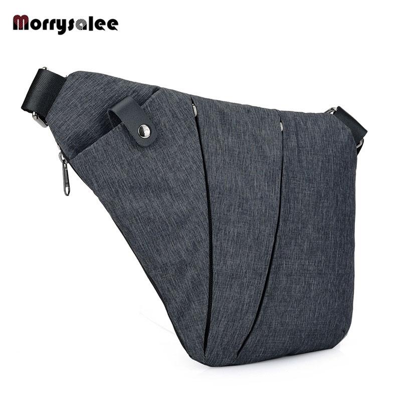 лучшая цена Men's Nylon Chest Bag Messenger Pocket Multi-function Crossbody bags Shoulder Bags Male Messenger Bag