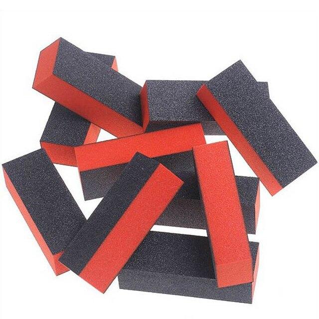 10pcs/Lot hand foot massager massage tools Nail Black Sanding Block Hear Heart Sanding Files Block Acrylic Nail Art Manicure Set 3