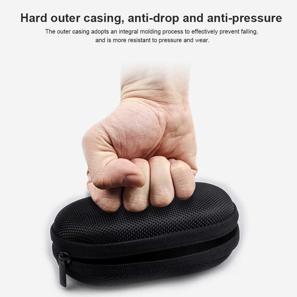 À prova de choque oxford pano eva saco de fone de ouvido anti-queda caixa de armazenamento fone de ouvido caso cabo de dados bluetooth saco de armazenamento de fone de ouvido
