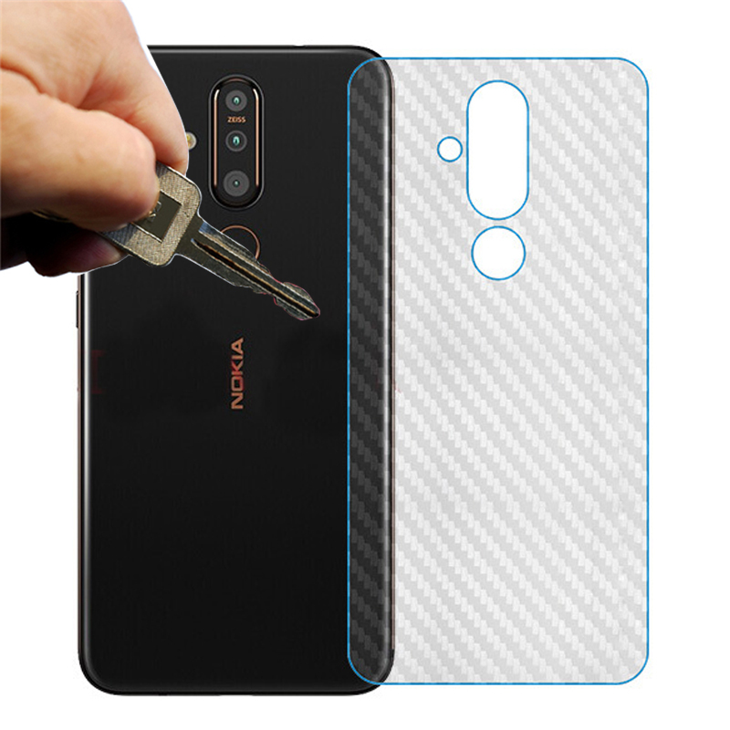 5pcs/lot 3D Carbon Fiber Screen Protector Back Cover Soft Film For <font><b>Nokia</b></font> <font><b>X71</b></font> X6 6.1 Plus 7.1 8.1 4.2 Not Tempered Glass image