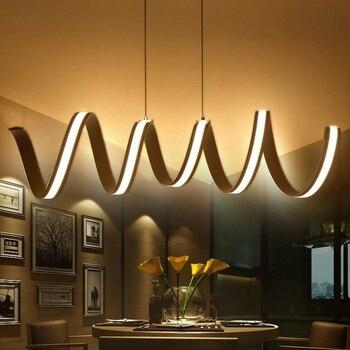 L600 / 900 / 1200mm Modern Aluminum LED Pendant Restaurant Bedroom Office Commercial Lighting Trim Lighting AC110-240V
