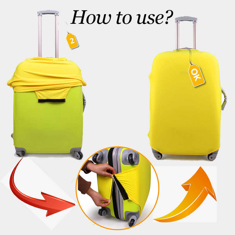 FORUDESIGNS Reizen Koffer Cover gelden 18-30 Inch Gevallen Kawaii 3D Kat Patroon Bagage Beschermende Covers Waterdicht Anti-stof