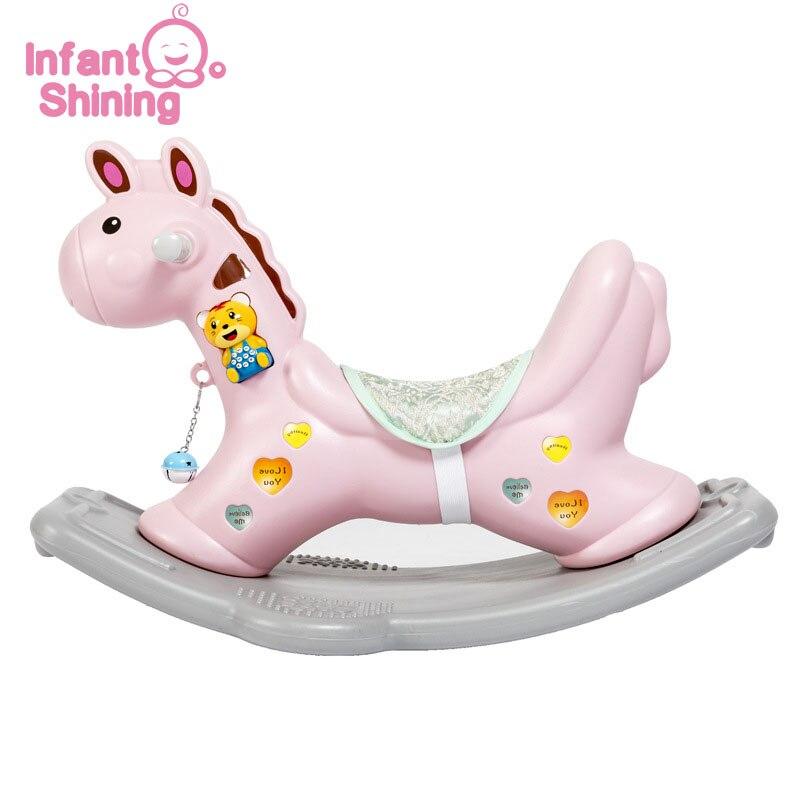 Bébé brillant enfants cheval à bascule jouets de plein air en plastique épaississement sécurité bébé 1-6 ans cadeau pour les nourrissons monter sur des jouets