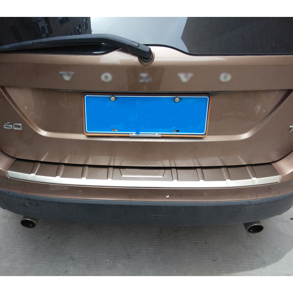 KOUVI Car styling chrome stainless steel rear bumper cover trim for 2013 2014 2015 volvo xc60 accessories jgrt chrome rear window wiper cover trim for 2013 2014 2015 frod escape kuga new high quality chrome stickers trim car styling c