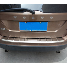 цена на Car styling chrome stainless steel rear bumper cover trim for 2013 2014 2015 volvo xc60 accessories