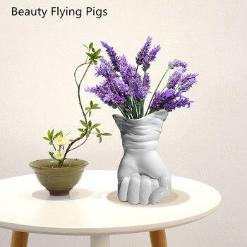 Form Vase Dekorative Harz Abstrakte Handschuh Blume Halter Schmuckstück Handwerk Schmuck Einrichtungs Für Home Office Cafe Pub