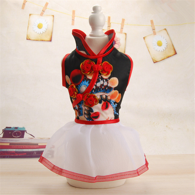 PipiFren 작은 개 드레스 옷 봄 요크셔 애완 동물을위한 의상 조끼 파티 의류 가운 부어 chien manteau pour chien