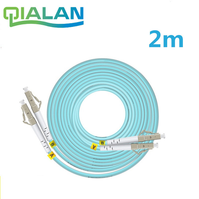 LC SC FC ST UPC OM3 Fiber Patch Cable,Duplex Jumper, 2 Core Patch Cord Multimode 2.0mm Optical Fiber Patchcord