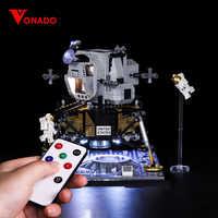 Vonado Licht DIY Serie Für Lego 10266 Apollo 11 Mond Landung Bin LED Beleuchtung Set Weihnachten geschenk spielzeug kinder geburtstag