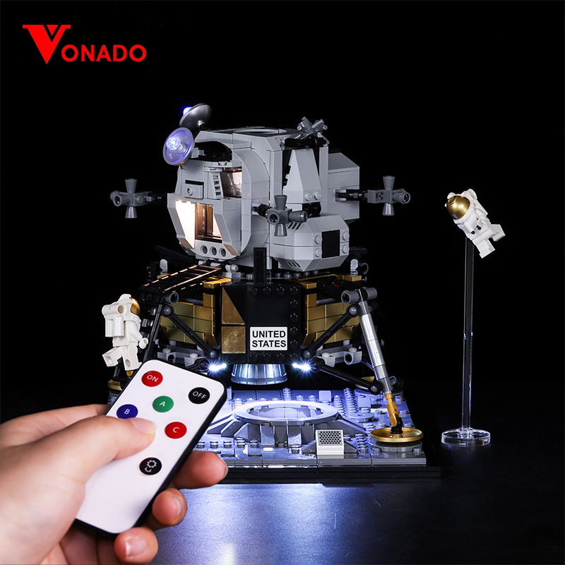 Vonado Light DIY Series For Lego 10266 Apollo 11 Moon Landing Bin LED Lighting Set Christmas Gift Toys Kids Birthday