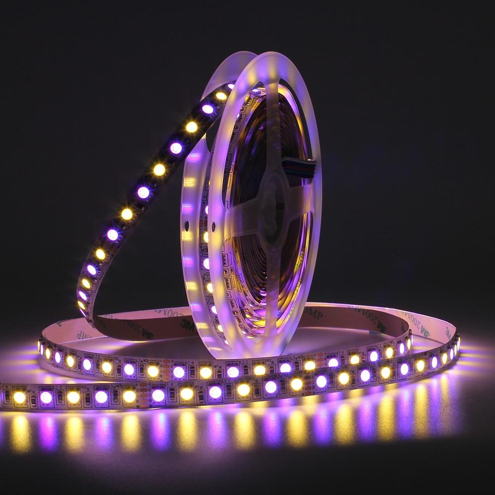 DC12V RGB LED bande 5050 96 120LED s/m RGBW RGBWW LED très brillante LED Flexible bande lumineuse IP20 IP65 étanche Diode bande