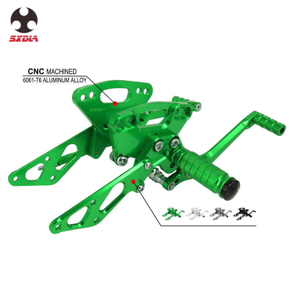 Motorcycle CNC Adjustable Foot Pegs Rear Set Footpegs Footrests For Kawasaki Z1000 Z1000SX NINJA 1000 ABS 11 12 13 14 15 16