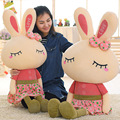 46cm Metoo Lovely Rabbit Little Bunny Plush Toys Small Stuffed Animals Wedding Valentine's day Gift Creative Skirt Doll Puppet