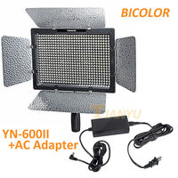 הכי חדש YONGNUO YN-600II YN600II בשני צבעים LED וידאו אור + מתאם AC
