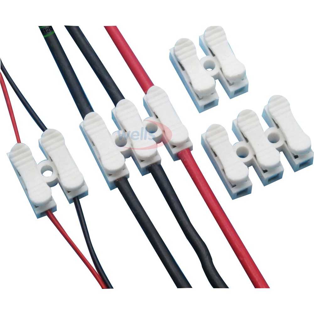 5-100pcs <font><b>2pin</b></font> 3pin Spring with no welding no screws Quick <font><b>Connector</b></font> wire <font><b>cable</b></font> clamp Terminal Block 2/3 Way for led strip image