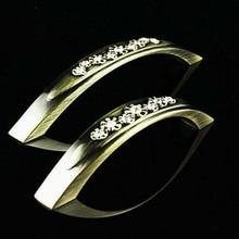 5″diamond handles Crystal kitchen cabinet handles pull bronze dresser pull antique zinc wardrobe furniture hardware handles