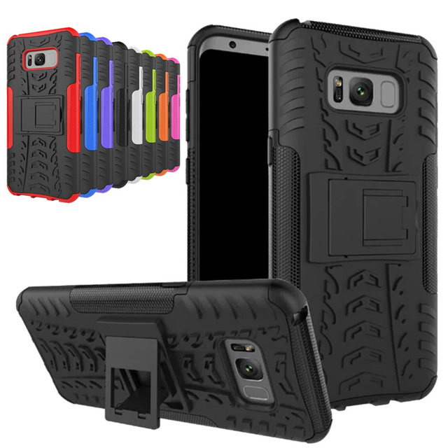 the best attitude 87121 ae1b0 US $3.78 8% OFF For Samsung Galaxy S8 S8 Plus Case Heavy Duty Armor  Shockproof Soft Silicon + Hard Plastic Coque Cases On S8 Rugged Rubber  Cover-in ...