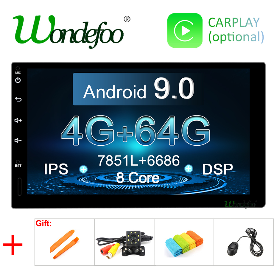 7 IPS screen Android 9 0 4G 64G 8 CORE 2 DIN universal GPS stereo radio